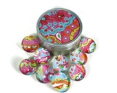 Glass Push Pins  Thumb Tacks Cork Board Pins in Lollipop  with Gift Tin (PT79)