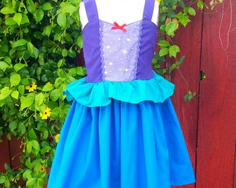 Ariel dress, princess dress, Ariel costume, little Mermaid dress, the little mermaid, Ariel birthday, summer princess dress, Lover Dovers