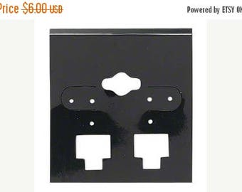 Spring Sale 10% off 50 Pack Black  Hole Top Large 2x2 Inch Plastic Hanging Earring Cards for Clip on Earrings
