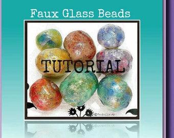 Polymer Clay Jewelry Tutorial - Liquid Polymer Clay Tutorial- Bead Tutorial- Jewelry Making Tutorial- Faux Glass Beads Tutorial