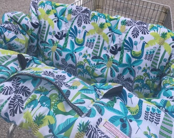 High Chair Cover Shopping Cart cover  for boy or girl..... Shake your Tail Feathers Caribbean.....michaelmooodesign