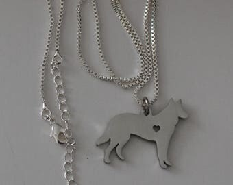 GERMAN SHEPHERD Dog Pendant and Chain - Pet