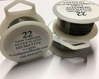 22 gauge Non Tarnish Hematite Copper Craft Wire 8 yards Made in USA