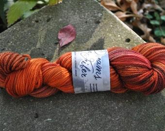 Superwash Merino Aran - The Floor is Lava Colorway