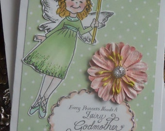 Princess Be My Fairy Godmother Collage Card