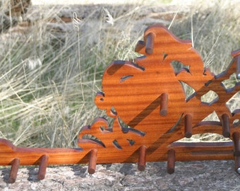Card / Inkle weaving loom  - African Mahogany Defender of the Realm!