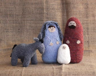 Small Nativity Set, Nativity Scene, Nativity Creche, Christmas Creche, Christmas Nativity