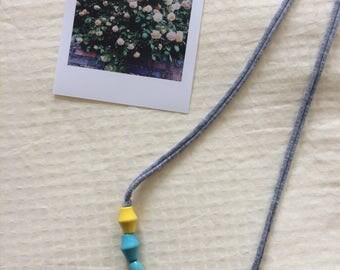 Beaded Fabric Necklace (gift set)