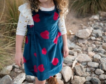READY TO SHIP - isn't she lovely dress : classic pinafore dress in cotton velveteen