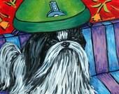 30% off Shih Tzu at the Salon Dog Art Tile Coaster Gift