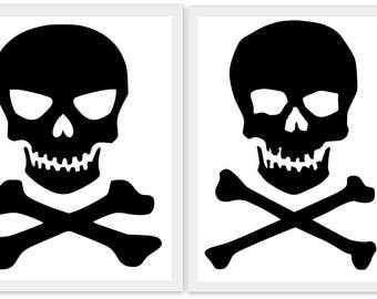Skull and Crossbones - SVG, Studio3, PDF, PNG, Jpg, Eps, Dxf File - Custom Designs & Wording Welcome