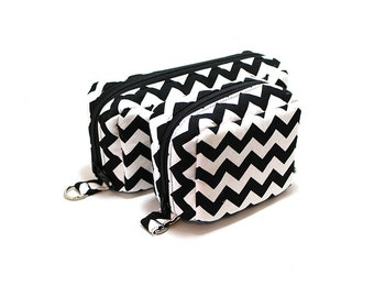 Essential Oil Case Set  Essential Oil Bag Gift Set Limited Edition Black and White Chevron