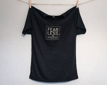 F' James' Cancer Fearless Photographers T-Shirt - Vintage Black