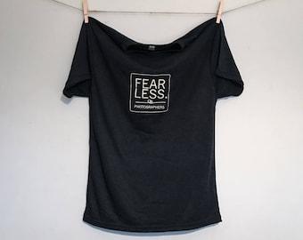 F' James' Cancer Fearless Photographers T-Shirt - Vintage Black