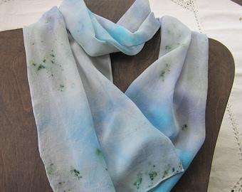 Light As A Cloud - Hand Dyed Chiffon Silk Scarf