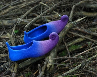 Ready to ship- sizes 39 fairy shoes  felted slippers  last minute gift