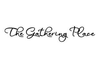 The Gathering Place vinyl lettering 36 x 6
