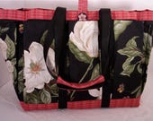 Magnolia Travel, Garden, Craft, Diaper, Knitting Tote Bag