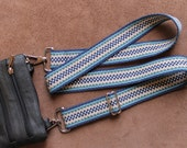 Handwoven Cross Body Carrying Strap/ Replacement Strap for Camera Bag/ Purse/ Briefcase/ Laptop/ Diaper Bag/ Gym Bag or Whatever You Carry
