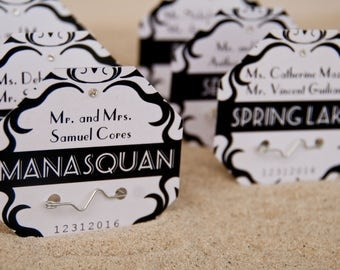 Beach Badge Wedding Place Cards | Beach Tag Formal Escort Cards | Wedding Seating Cards Deposit