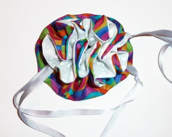Multi Color Circle Print Jewelry Pouch, Drawstring
