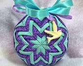 Quilted Ornament - White Dove