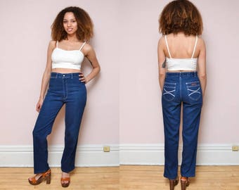 70s Vintage Lord Isaacs High Waist Jeans // High Waisted Jeans  - 29/30 inch waist