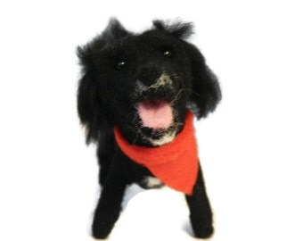 Personalised Dog Figurine, Needle Felted Crossbreed, Silky Terrrier or any breed of Cat, Dog or Horse of Your Choice Made To Order