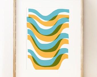 Wave (Palm Springs Circa 1967) - abstract wall art print