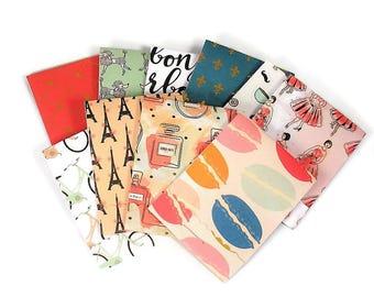 Set of 20 Matchbook Notepads Mini Note Pads in Bonjour Paris