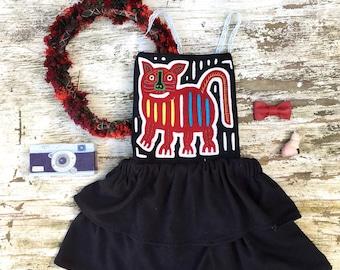 Kitty Cat Mola Dress
