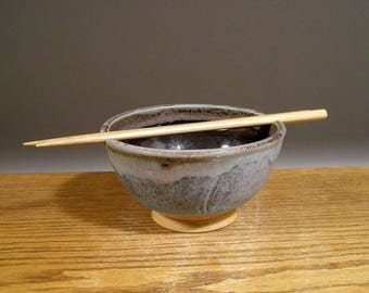 Ceramic Rice Bowl , Pottery Noodle Bowl , Handmade Bowl , Ramen Bowl , Pottery Bowl , Chopstick Bowl , Jon Whitney Pottery