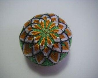 Mini hand made Temari(blue, orange)