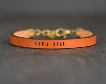 mom friendship jewelry | mama bracelet | new mom bracelet | mama bear jewelry | tiny mom gift | mother jewelry | sentimental mom bracelet