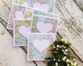 Wanderlust Mini Heart Cards Set