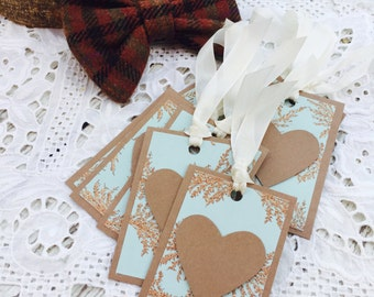Falling for Fall Mini Heart Tags Collection Set of 9