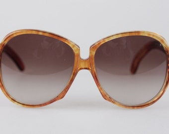 Authentic YVES SAINT LAURENT Vintage sunglasses orange gaude 58mm oversized