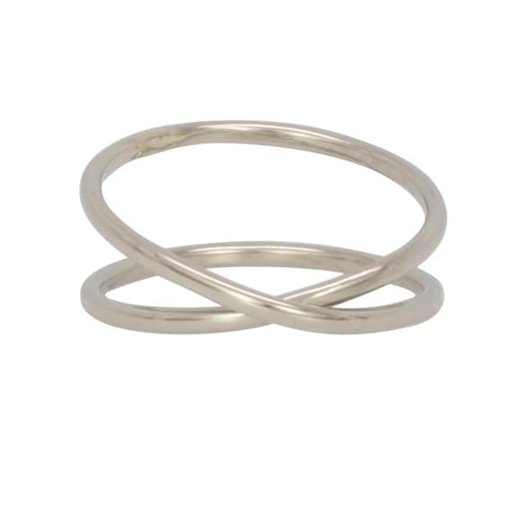 14k palladium white gold infinity eternity ring by
