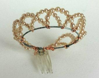 Vintage Pearl Doll Tiara Crown