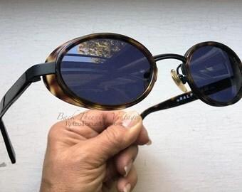 Ralph Lauren Shield Sunglasses Vintage 1980's Oval Tortoise Frame Eyeglasses Eyewear