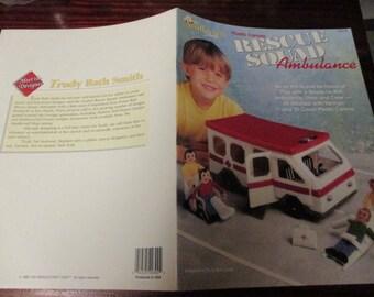Plastic Canvas Rescue Squad Ambulance Needlecraft Shop 933742 Pattern Leaflet