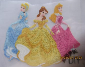 Elsa and Anna,Disney Princesses, Sofia the First, 6 Iron on Appliques, DIY, Easy to do,