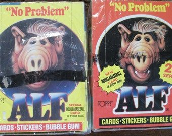 Alf I and Alf II  Full Boxes of Unopened Non Sport Trading Cards