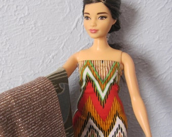 Curvy Barbie Doll Clothes another Evening Dress Trio
