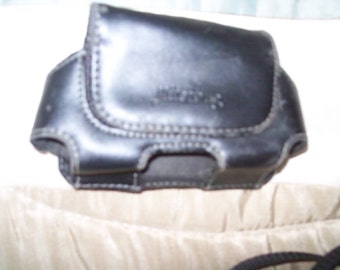 Leather cell phone case for Jitterbug phone-with belt clip