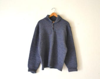 1980's Pendleton Blue Pullover Sweater