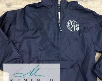 Youth Monogrammed Rain Coat, Kids Monogrammed Pullover Jacket, Charles River Raincoat, Girls Rain Coat, Preppy Personalized Monogram Rain