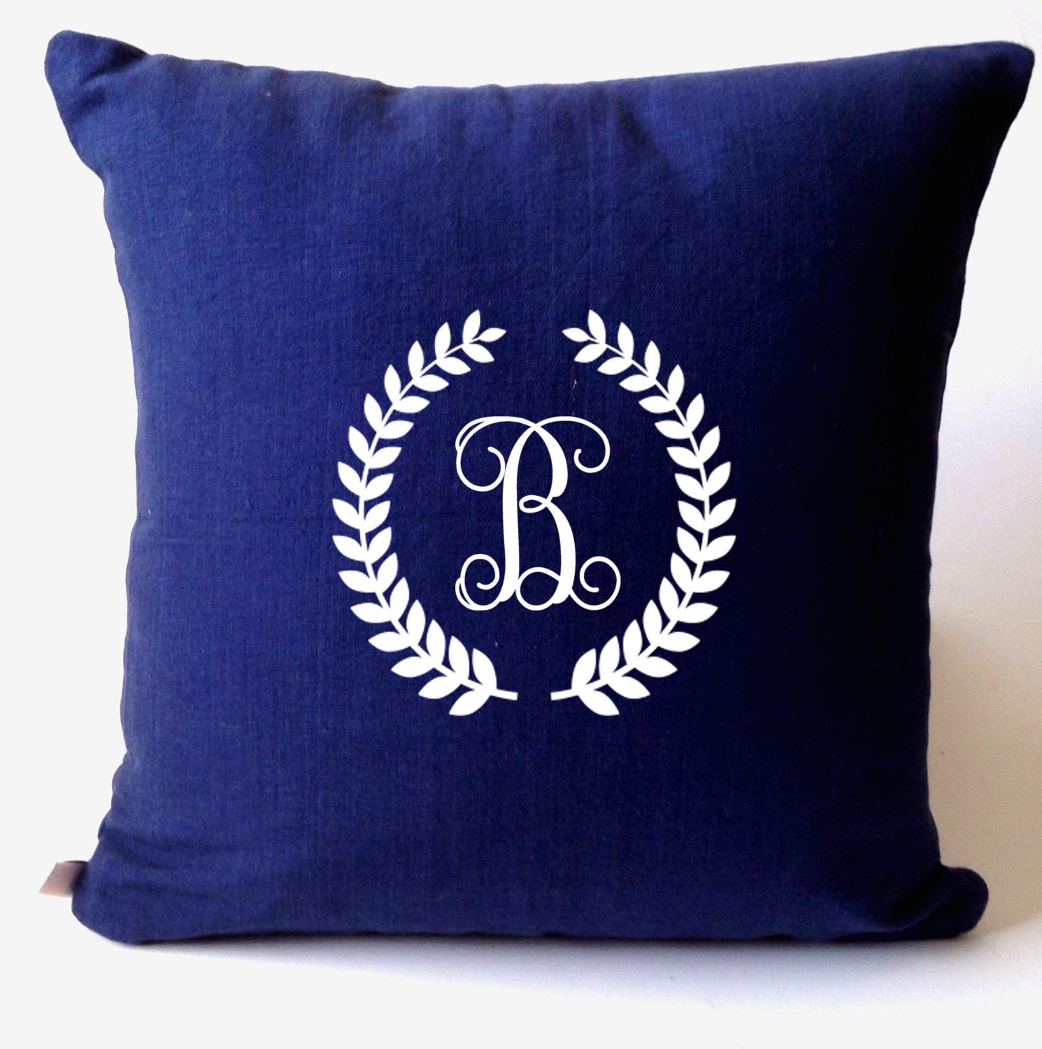 Decorative Pillows With Monogram : Monogrammed Wreath Decorative Pillows Monogram Vine Throw