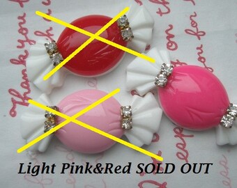 BIG Fancy Candy with rhinestones SET 3pcs (Hot pink ONLY)