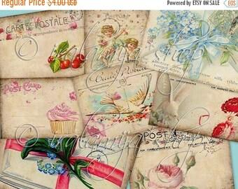 SALE CARTAS POSTALES collage Digital Images -printable download file-